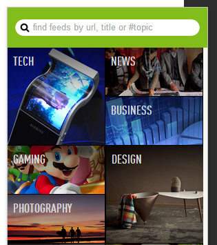 Feedly search box